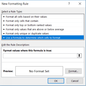 CONDITIONAL FORMATTING STEP 3