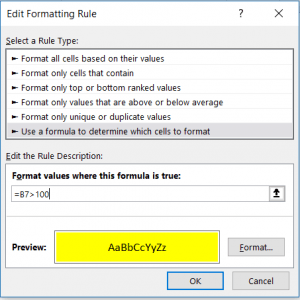 CONDITIONAL FORMATTING STEP 4