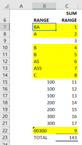 CONDITIONAL FORMATTING STEP B1