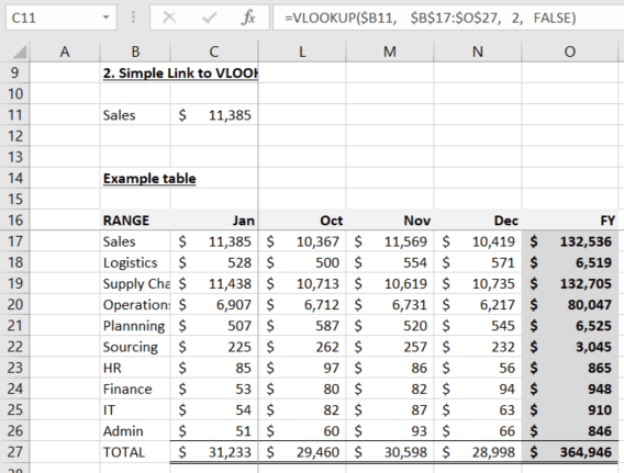 Excel Link to VLOOKUP or SUMIF Result - Excel Awesome