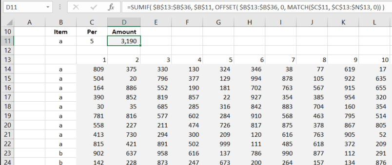 EXCEL HYPERLINK TO SUMIF RESULT A8